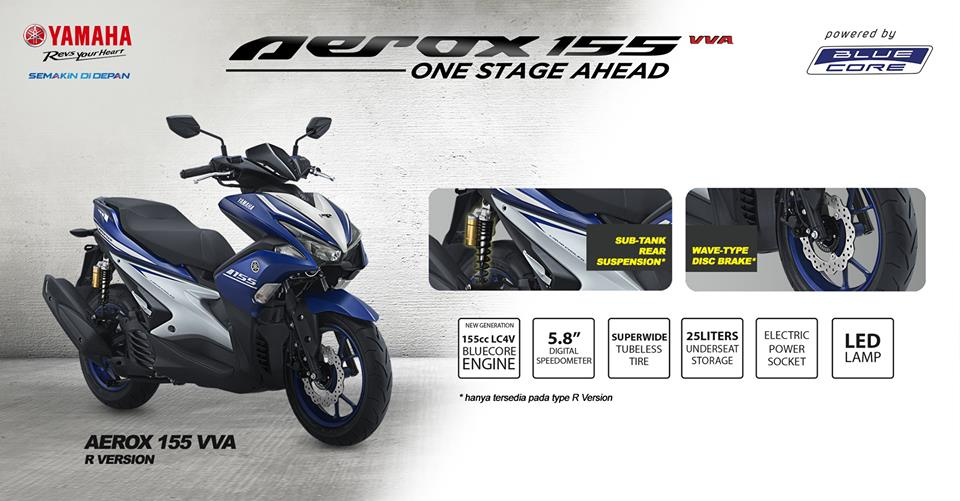 New Yamaha Aerox 155cc VVA Indonesia