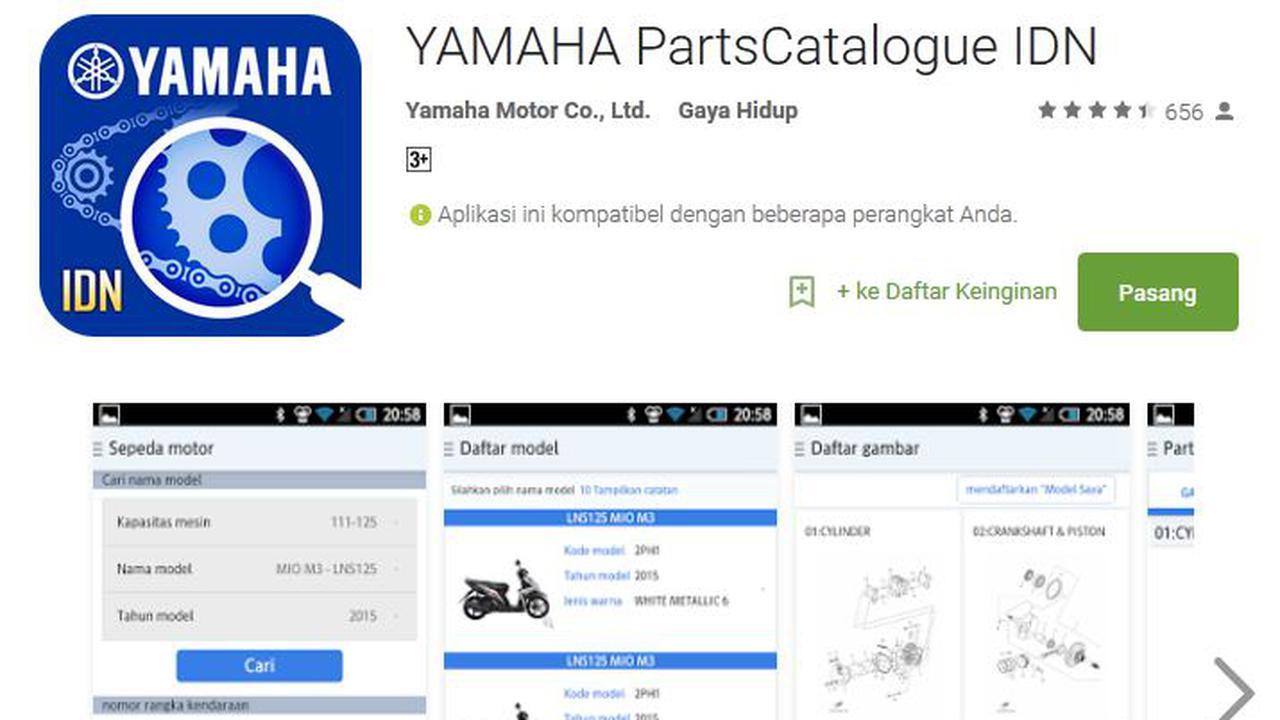 Cari Sparepart Original Yamaha Kini Bisa Lewat Hp